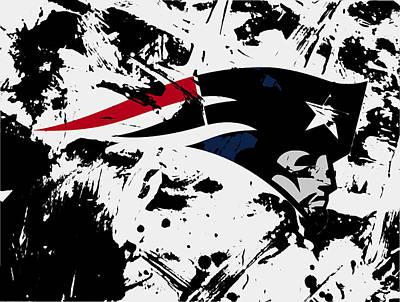 New York Giants Mixed Media - New England Patriots 1e by Brian Reaves