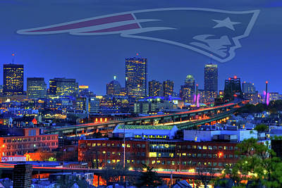 Photograph - New England Patriots - Boston Skyline by Joann Vitali