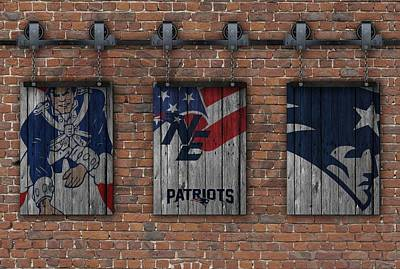 Photograph - New England Patriots Brick Wall by Joe Hamilton