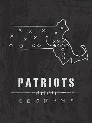 New England Patriots Art - Nfl Football Wall Print Art Print by Damon Gray