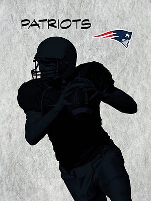 Print featuring the digital art New England Patriots Football by David Dehner