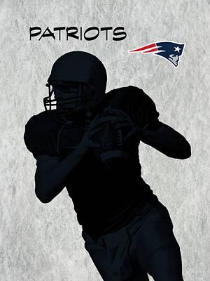 New England Patriots Football Art Print by David Dehner