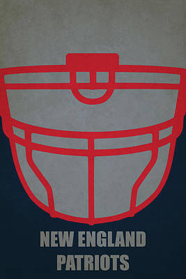 Football Painting - New England Patriots Helmet Art by Joe Hamilton