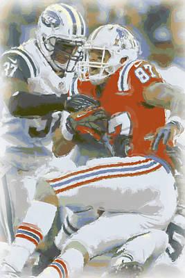 Photograph - New England Patriots Rob Gronkowski 1 by Joe Hamilton