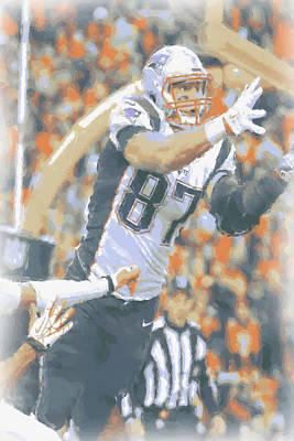 Photograph - New England Patriots Rob Gronkowski 2 by Joe Hamilton