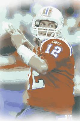 New England Patriots Tom Brady 2 Art Print by Joe Hamilton
