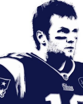 New England Patriots Tom Brady 5 Art Print by Joe Hamilton
