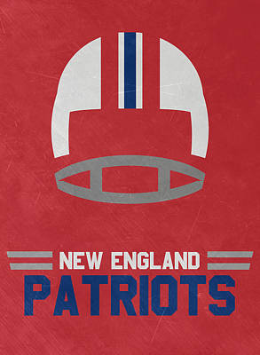 Mixed Media - New England Patriots Vintage Art by Joe Hamilton