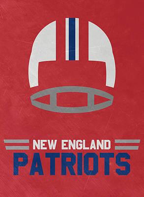 England Mixed Media - New England Patriots Vintage Art by Joe Hamilton