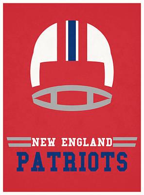 England Mixed Media - New England Patriots Vintage Nfl Art by Joe Hamilton