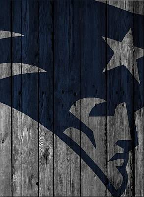Photograph - New England Patriots Wood Fence by Joe Hamilton