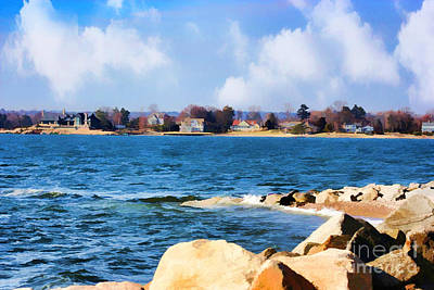 Painting - New England Shoreline - Painterly by Judy Palkimas
