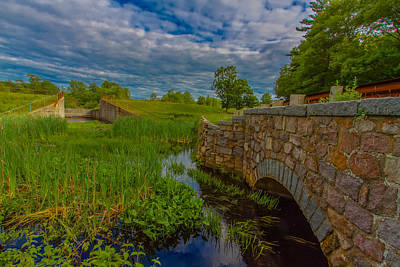 Photograph - New England Stone Bridge by Brian MacLean