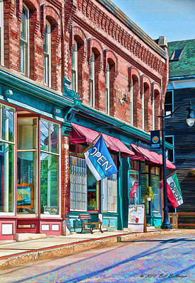New England Storefronts Art Print