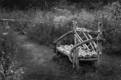 New England Summer Rustic Bw Art Print by Bill Wakeley