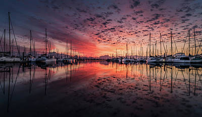 Photograph - New England Sunrise On The Bay by Movie Poster Prints