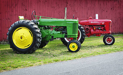Farm Equipment Photograph - New England Tractors by Luke Moore