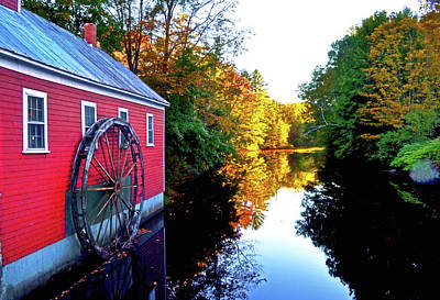 Photograph - New England Water Wheel 001 by George Bostian