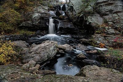 New England Waterfall In Autumn Art Print