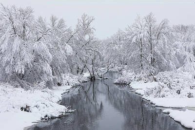 Photograph - New England Winter At The Westborough Assabet River  by Juergen Roth