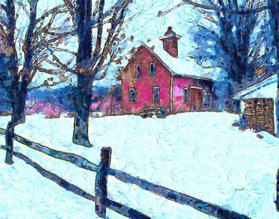 New England Winter Scene Art Print