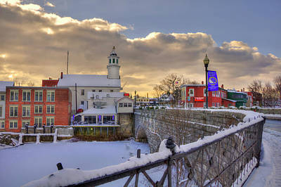 Photograph - New England Winter Scene - Milford, New Hampshire by Joann Vitali