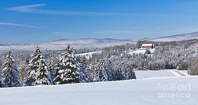 Photograph - New England Winter Scenic Panorama by Alan L Graham