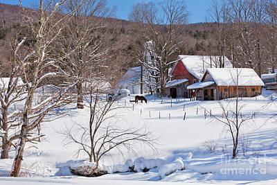 Photograph - New England Winter Village by Alan L Graham