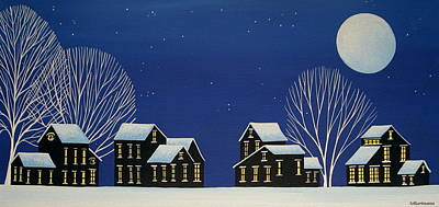 Folk Art Painting - New Fallen Snow by Debbie Criswell