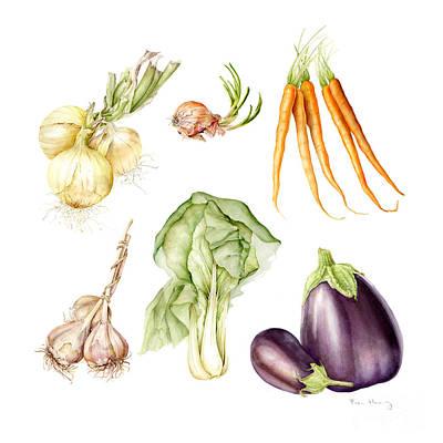 New Farmers Market Study Art Print by Fran Henig