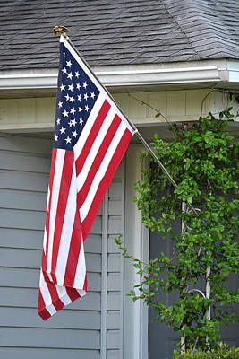 Photograph - New Flag - Ready For The Fourth Of July by rd Erickson