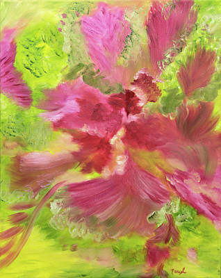 Painting - Feathery Florals by Meryl Goudey