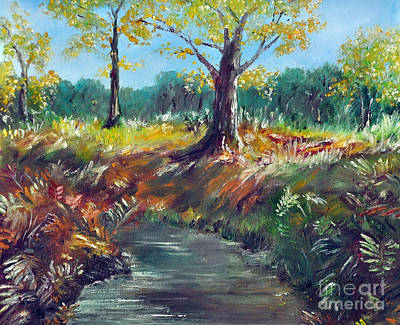 New Hampshire Artist Painting - New Forest Autumn View by Paul Cummings
