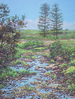 Painting - New Forest Ditch by Martin Davey