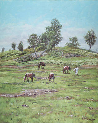 Painting - New Forest Lyndhurst Hampshire by Martin Davey