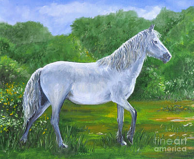 New Hampshire Artist Painting - New Forest Pony Wandering  by Paul Cummings