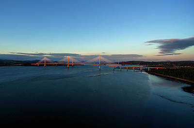 Photograph - New Forth Road Bridge by Steev Stamford