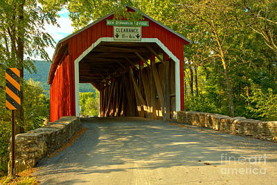 Photograph - New Germantown Covered Bridge by Adam Jewell