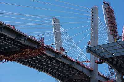 Photograph - New Goethals Bridge Construction 1 by Kenneth Cole