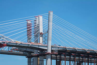 Photograph - New Goethals Bridge Under Construction by Kenneth Cole