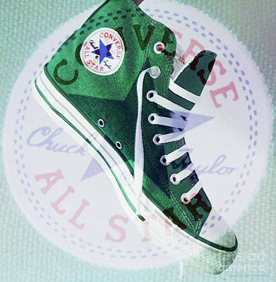 Converse Shoe Digital Art - New Green Converse by Don Pedro De Gracia