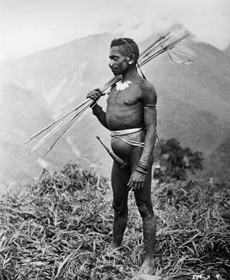 Photograph - New Guinea Tribesman by Granger
