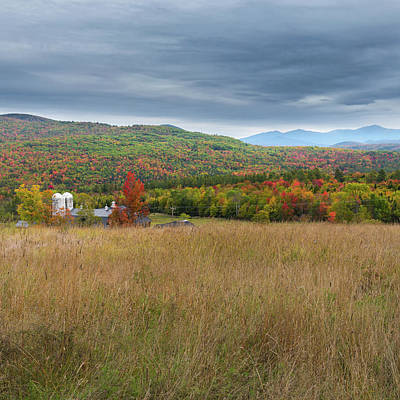 Farming Photograph - New Hampshire Autumn Square by Bill Wakeley