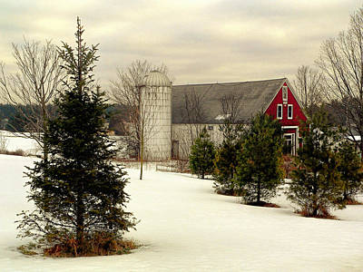 Photograph - New Hampshire Barn by Janice Drew