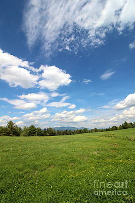 Mountains Photograph - New Hampshire Farm Meadow by Neal Eslinger