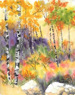 Painting - New Hampshire In Autumn  by Roseann Meserve