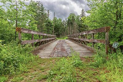 Photograph - New Hampshire Snowmobile Trail Bridge by Brian MacLean