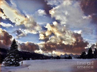 Vermeer Rights Managed Images - New Hampshire Sunset Royalty-Free Image by David Rucker