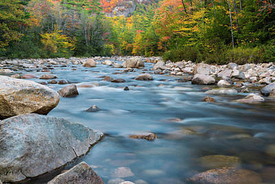 New Hampshire Swift River And Fall Foliage In Autumn Art Print