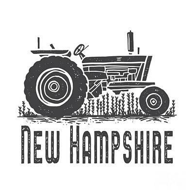 Digital Art - New Hampshire Vintage Tractor by Edward Fielding